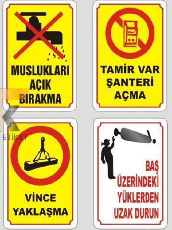Uyarı ve İkaz Etiketleri 03