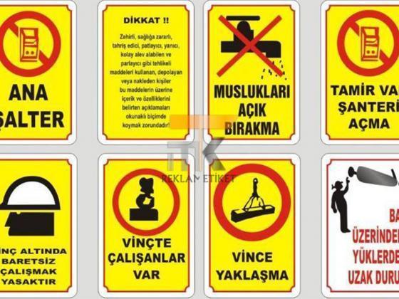 Uyarı ve İkaz Etiketleri Baskı